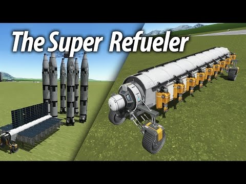 Super Refueler and Mining Basics (Tutorial: 23) Kerbal Space Program 1.1.3 Stock