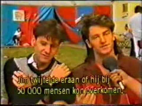 Bono and Jim Kerr joint interview 1983 (Werchter)