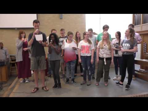 El-shaddai International Church Netherlands : Youth from Baptist Church Amersfoort singing