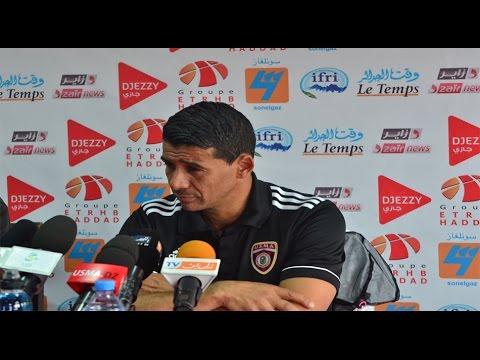 Conférence de presse de l'entraineur Miloud HAMDI le 6 avril 2016