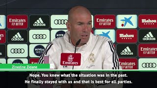Zidane wants Gareth Bale to stay at Real Madrid now