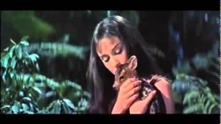 Audrey Hepburn and Her Pet Deer in Green Mansions