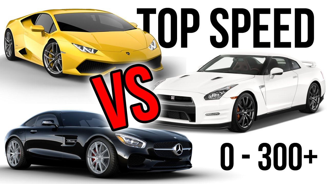top speed lamborghini huracan vs nissan gt r vs mercedes amg gts youtube. Black Bedroom Furniture Sets. Home Design Ideas