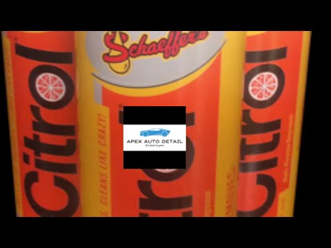 Citrol 266 heavy Duty Degreaser!! How to safely use it on clear, painted surfaces!!