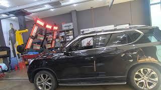 쌍용자동차 G4 렉스턴 스포츠 깨진 전면유리교체, 앞유…