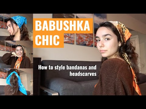 Trendy Bandana and Head Scarf HAIRSTYLE TUTORIAL // easy ways to spice up your outfits