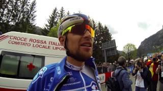 Tour d'Italie 2017 : Avec Jérémy Roy juste après l'arrivée de Canazei