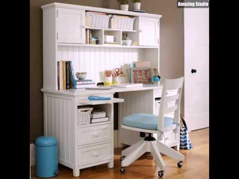 Mädchen Schlafzimmer Schreibtisch Weiß und Blau und Kaffee - YouTube