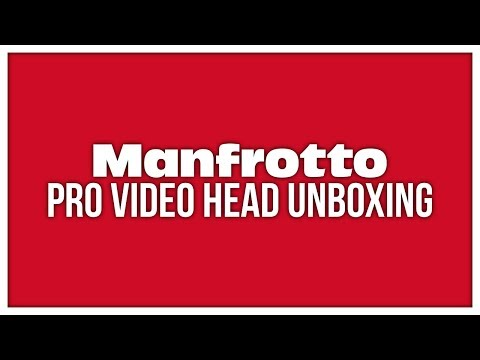 Manfrotto Pro Video Head Unboxing (Manfrotto MVH502AH)
