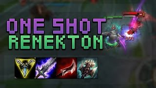 NEW FULL AD 1 SHOT RENEKTON W BUILD! 1800+ DAMAGE ON 1 ABILITY! - Troll Builds That Work! #8