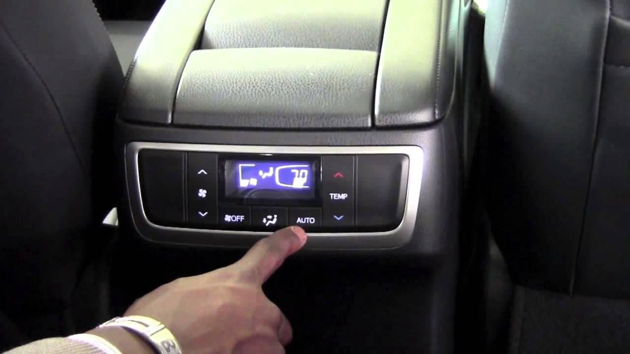 Toyota Highlander Rear Climate Control How To By