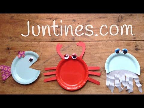 Estos cangrejos hechos con platos de papel son geniales como manualidad