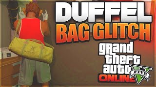 GTA V how to get the duffle bag NEWEST METHOD * easiest method *  *after patch 1.42 *