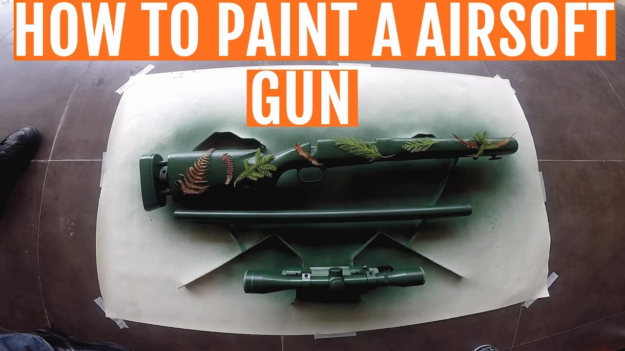 How to paint a airsoft weapon / Paintjob M24VSR10