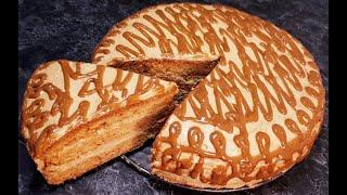 Простой Торт Золотой Ключик Знаменитый Рецепт Вкусного Торта к чаю Easy Cake Golden Key Recipe