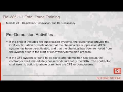 NAVFAC Safety Training Module 23: Demolition and Renovation