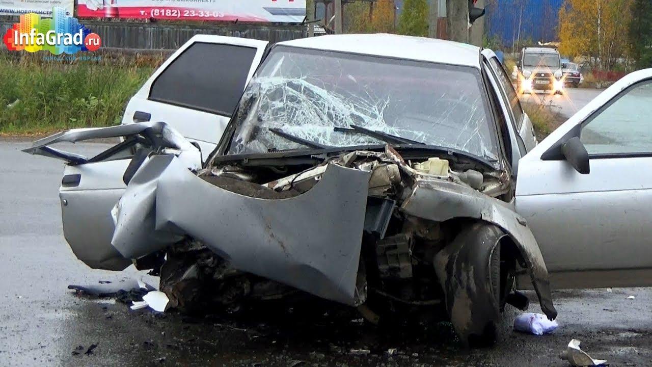 Авария ДТП лобовое столкновение Приора Ваз 2114 - YouTube
