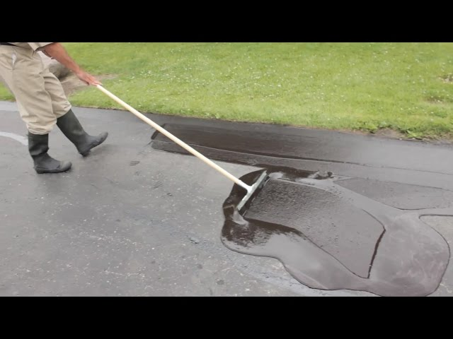 Asphalt Seal Your Own Driveway! - YouTube