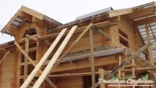 видео строительство домов из профилированного бруса