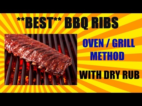 **BEST** BBQ RIBS - OVEN/GRILL METHOD