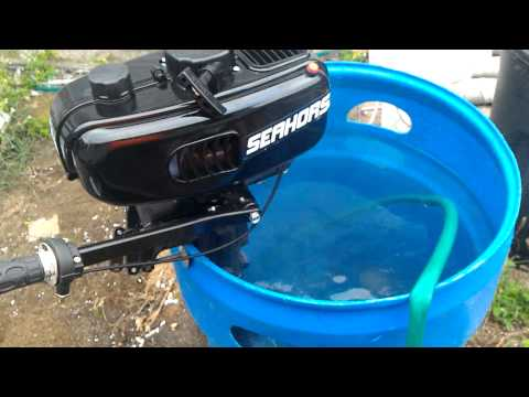 Breaking in 3.5 seahorse Tohatsu Hagkai Chinese Outboard Motors
