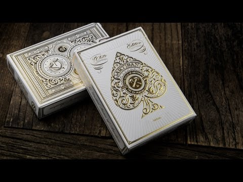ARTISAN - White Edition Playing Cards [theory11]