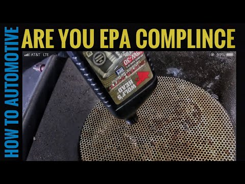 How To Stay In Compliance With The EPA  with the Oil Bottle Draining System