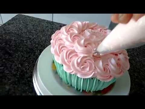 Decorando Cupcake Gigante Smash Cake Youtube