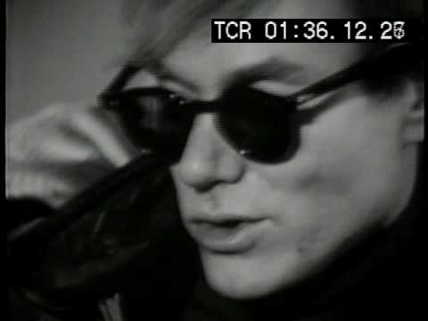 Andy Warhol with factory interview