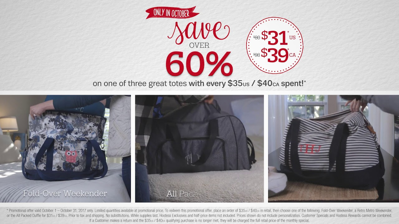 4846d11804f0 Thirty-One Gifts October 2017 Customer Special - YouTube