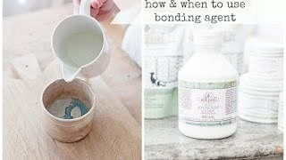 using bonding agent with milk paint   miss mustard seed