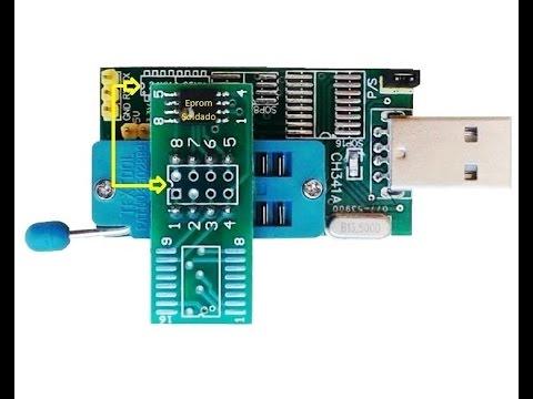 Tutorial da Gravadora USB de Eprom CH341A Série 24XX 25XX
