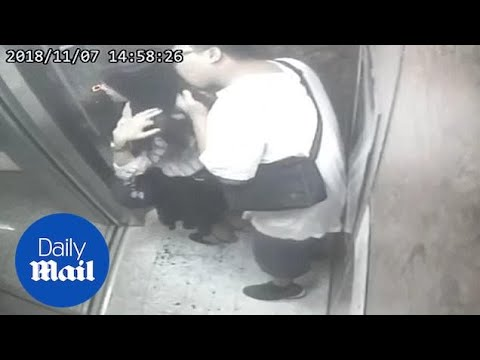 Heath West - Weirdo Sniffs And Tastes Woman's Hair In Elevator
