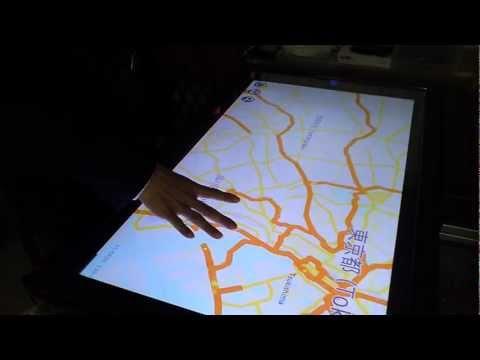 AndroidMapAPPアンドロイド地図アプリを大画面でマルチタッチ操作