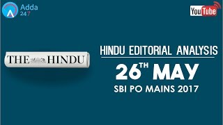 The Hindu Editorial Analysis 26th May 2017 SBI PO Online Coaching for SBI, IBPS & Bank PO