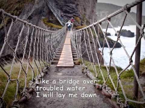 Bridge over troubled water - Susan Boyle - Lyrics