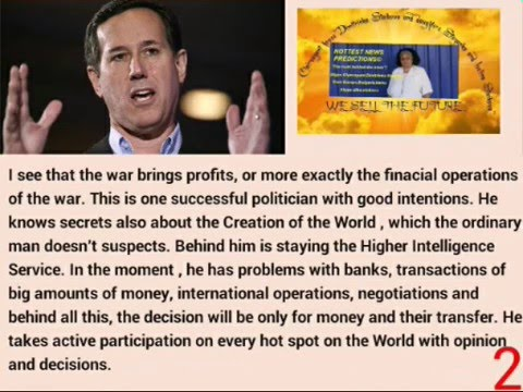 Suspending of Rick Santorum by US Election 2016 predicted by Clairvoyant Dimitrinka Staikova