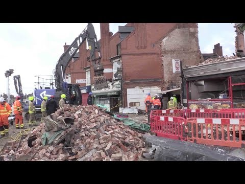 Leicester explosion in UK: Emergency services at the scene on Hinckley Road