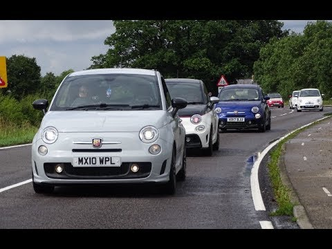 Abarth Owners Meet/BBQ/Convoy at Sharnbrook - YouTube