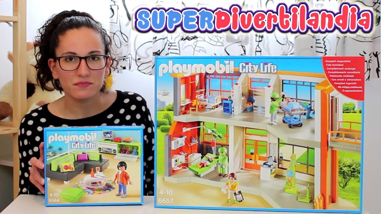 hospital infantil de playmobil city life 6657 y sala de. Black Bedroom Furniture Sets. Home Design Ideas