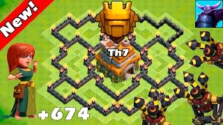 Clash Of Clans - New Update - TH7 Farming base 3 air defense ANTI EVERYTHING! - TH7 Trophy Base 2016
