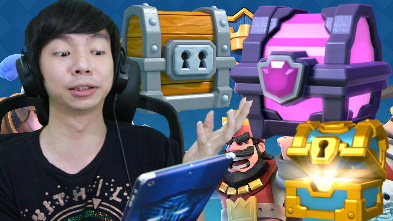 Buka Magical Giant Golden Chest Clash Royale Indonesia 9