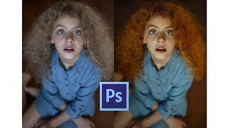 How to Change Hair Color in Photoshop (Gradient Map) [Sub Espanol]
