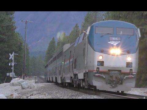 Amtrak Empire Builder Leavenworth Cascades Eastbound HD