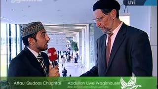 Interviews with different guests after Jalsa Salana Germany 2012