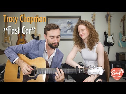"""How to Play Tracy Chapman """"Fast Car"""" - Easy Beginner Guitar Songs Lesson"""