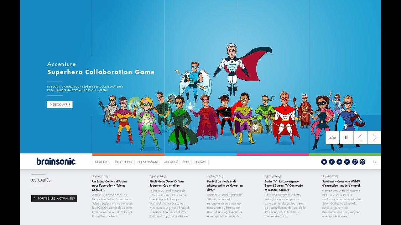 Www Un Temps Pour Elles Com accenture : accenture superhero collaboration game