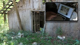 Abandoned House and Barn with Strange Photos Left Behind