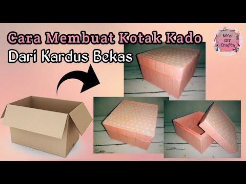 Cara Membuat Kotak Kado Dari Kardus Bekas || Gift Box || How To Make Gift Box || DIY