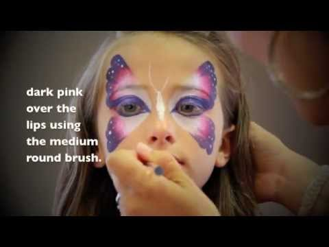 Easy Butterfly FACE PAINTING MAQUILLAGE POUR ENFANTS YouTube